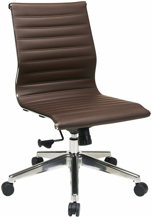 Office star contemporary armless office chair 73638 free for Armless office chairs