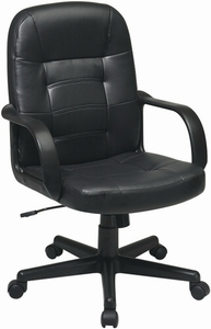 Work Smart Eco Leather Mid Back Office Chair Ec3393