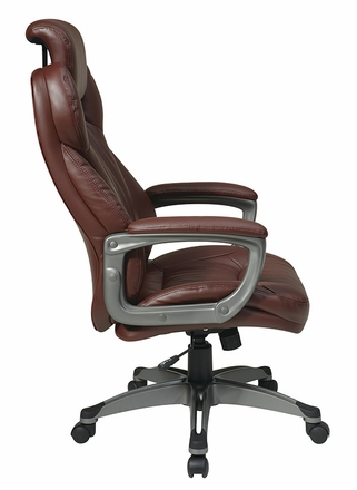 office star eco leather office chair with headrest ech85807