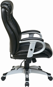 Work Smart Executive Office Chair with Adjustable Arms [ECH52666]
