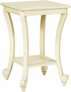 Office Star OSP Designs Daren Accent Table Antique White [DAR6504 DH4]