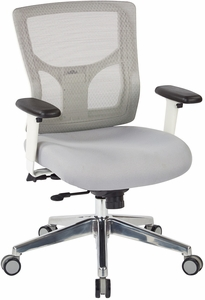 Office Star Pro Line II™ ProGrid® White Mesh Mid Back Chair [95673]
