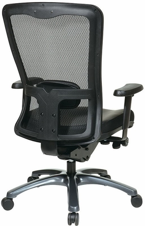 Pro Line II ProGrid Mesh Chair with Eco-Leather Seat [97728-EC3]