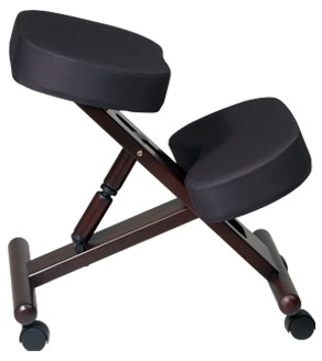 Work Smart Wood Finish Kneeling Chair [KCW778]