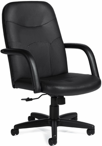 Faux leather home office chairs offices to go luxhide for Home office chairs leather