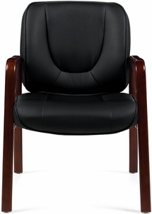 Offices To Go Luxhide Leather Executive Side Chair OTG11770
