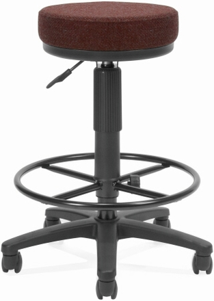 ofm backless office stool with drafting foot rest [902-dk] free