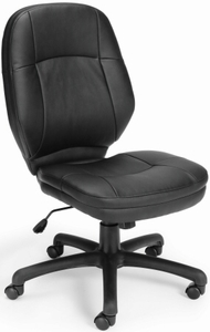 ofm stimulus armless leather office chair 521 lx free shipping