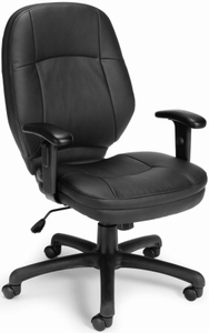 OFM Stimulus Faux Leather Armless Office Chair [521-LX]