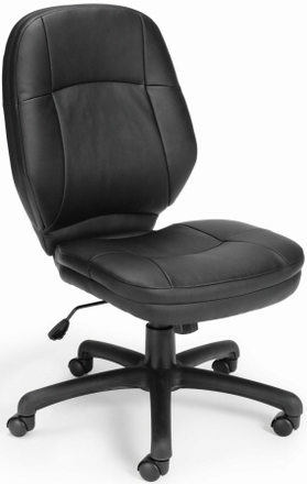OFM Stimulus Faux Leather Armless Office Chair [521-LX]  sc 1 st  Office Chairs Unlimited & OFM Stimulus Armless Leather Office Chair [521-LX] Free Shipping!