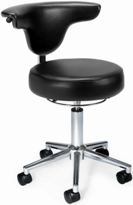 OFM Vinyl Anatomy Stool with Backrest [910]