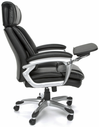 ORO 200 Leather Office Chair With Tablet Arm By OFM [ORO200]