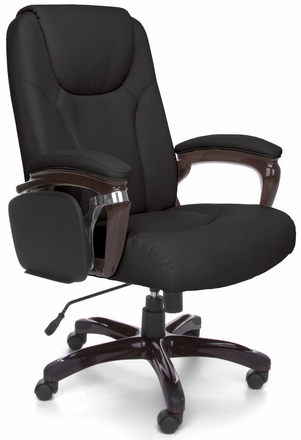 oro300 tablet arm chair in black or cream leather oro300