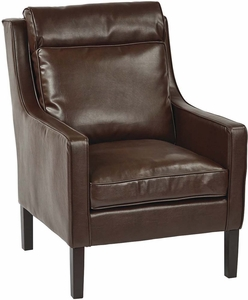 OSP Accents Colson Arm Chair Cocoa Bonded Leather [SB257-BD24]