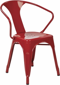 "OSP Designs 30"" Metal Chair Red Set of 2 [PTR2830A2-9]"