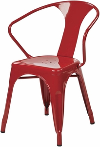 "OSP Designs 30"" Metal Chair Red Set of 4 [PTR2830A4-9]"