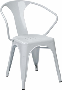 "OSP Designs 30"" Metal Chair White Set of 2 [PTR2830A2-11]"