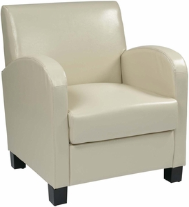 OSP Designs Club Chair Cream Bonded Leather [MET807RCM]