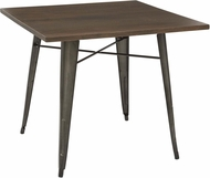 OSP Designs Indio Metal Table Matte Gunmetal / Walnut [IND432-C209-1]