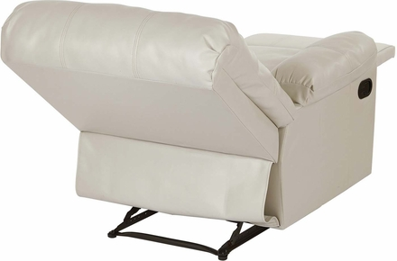 OSP Designs Kensington Recliner in Cream Bonded Leather [KNS54-CM]