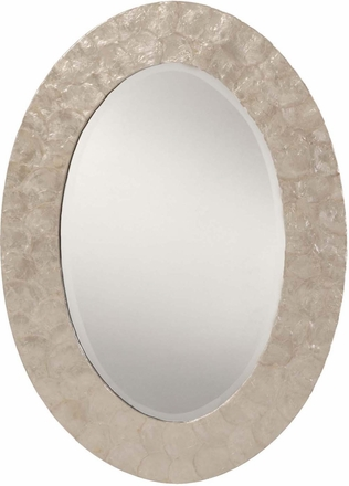 Office Star Wall Mirror Mother of Pearl Oval Frame|Office Chairs ...