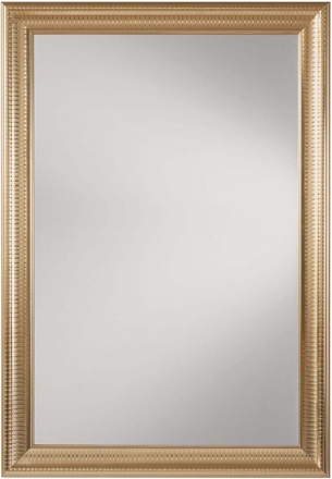 Office star rectangle wall mirror regency gold sh9363 gld for Gold frame floor mirror