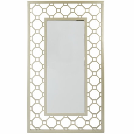 Osp designs gold and silver frame square mirror sh9368 for Gold frame floor mirror