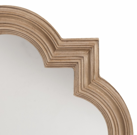 Office star the gatsby wall mirror platinum gold gc0502 for Gold frame floor mirror