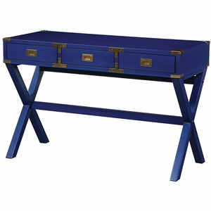 osp designs wellington desk lapis blue wel4630 lp