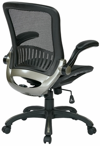 OSP Office Black Chair with Titanium Finish [EMH69007]