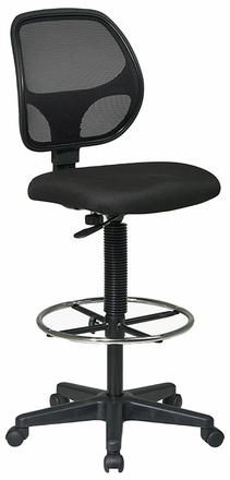 Office Star Screen Back Mesh Drafting Chair Dc2990 Office