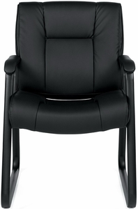 Beau ... Sled Base Luxhide Leather Guest Chair ...