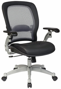 Delicieux Space Seating Professional Air Grid Back Office Chair In Black [3680]