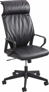 Priya™ High Back Task Chair Leather Black [5075BL]