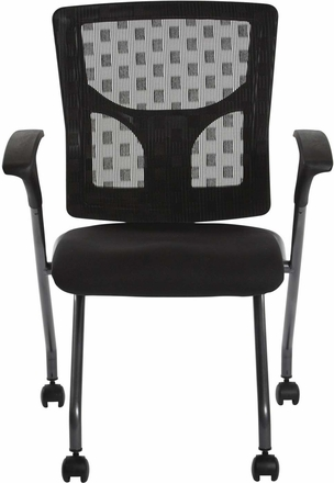 Pro-Line II™ ProGrid® Checkered Mesh Back Folding Chair Titanium Set of 2 [84270-30]