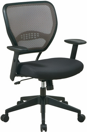 office star air grid deluxe mesh task chair black 5500