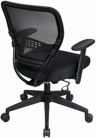 Space Seating® Air Grid Deluxe Mesh Task Chair, Black [5500]