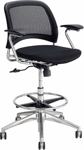Reve™ Extended-Height Chair Mesh Seat & Back Black [6820BL]
