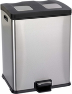 Right-Size Recycling Trash Can 7 1 / 2 Gallon Stainless Steel [9634SS]
