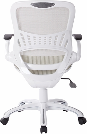 six riley office chair white mesh [rly26-wh]