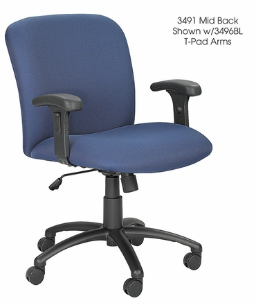 SAFCO Mid Back 24/7 Chair with 500 lb. Capacity [3491]