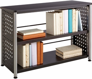 Scoot Bookcase 2 Shelf Black 1601bl