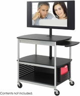 Scoot� Open Flat Panel Multimedia Cart Black [8940BL]