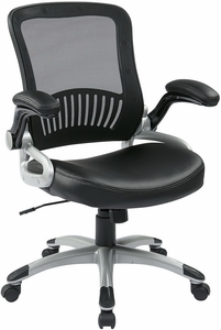 Work Smart Screen Back Modern Mesh Chair with Flip Arms [EM35201]