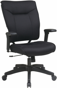 Space Seating® Black Mesh Executive Chair Adjustable Arms [37-33N1A7U]