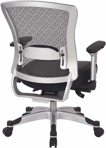 Space Seating® Executive Breathable Mesh Back Chair with Flip Arms [317-ME3R2C6KF6]