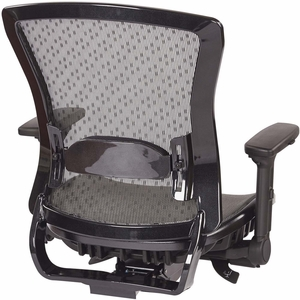 Space Seating® Executive Breathable Mesh Back Chair with Flip Arms [317-R22C7KF7]