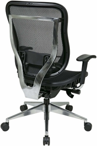 Space Seating® Executive High Back Mesh Chair Aluminum Base [818A-11P9C1A8]