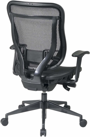 Space Seating® Executive High Back Mesh Chair Gunmetal Base [818-11G9C18P]