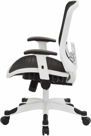Space Seating® White CHX Dark Mesh Managers Chair [525W-G33C11F2W]